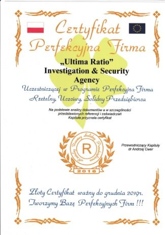 Certificate Poland + European Union